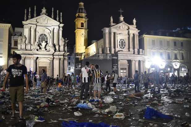 Mouvement de panique à Turin: 200 blessés