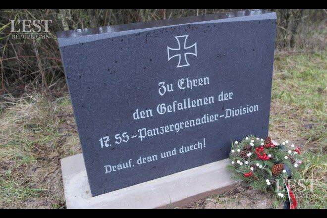 Moselle : une stèle nazie érigée dans un jardin privé