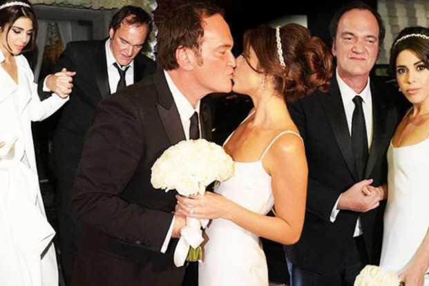 Q. Tarantino et la chanteuse israélienne Daniela Pick sous la huppah